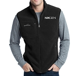 Eddie Bauer Men's Fleece Vest Black