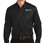 Port Authority Super Pro Twill Shirt Mens Black